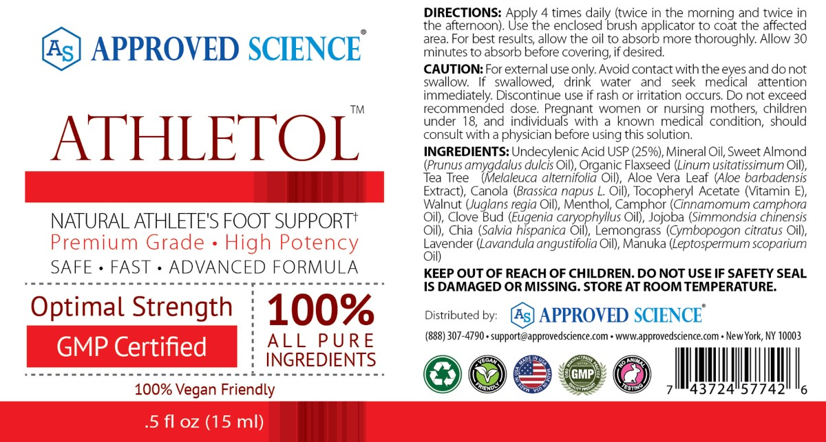 Athletol Supplement Facts